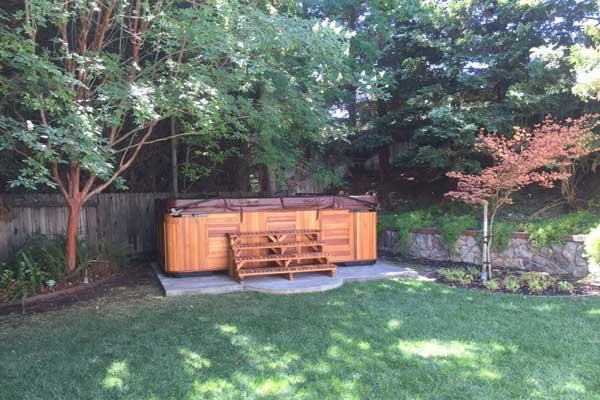 preparing your yard for hot tub installation